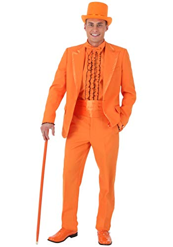 Dumb and Dumber Lloyd Tuxedo Costume Medium Orange ()