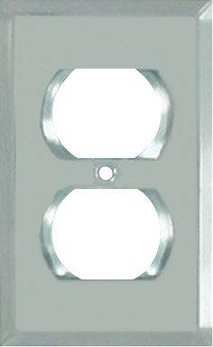 Jackson-Deerfield Mfg. 9MC108 Beveled Glass Mirror Outlet Wall Plate