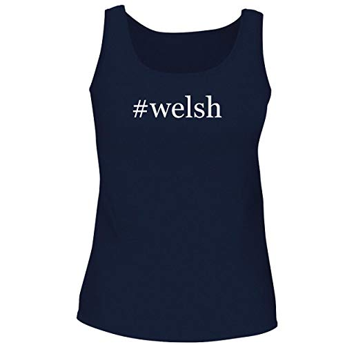 Webkinz Jack - BH Cool Designs #Welsh - Cute Women's Graphic Tank Top, Navy, XX-Large