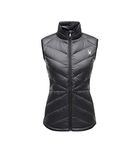 Spyder Women's Solitude Down Vest, Black/Black, - Vest Down Womens