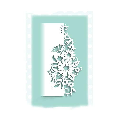 StaunchWea Lace Border Frame Cutting Dies Stencil for DIY Scrapbooking Embossing Album Paper Card Silver (Flower Edge) ()