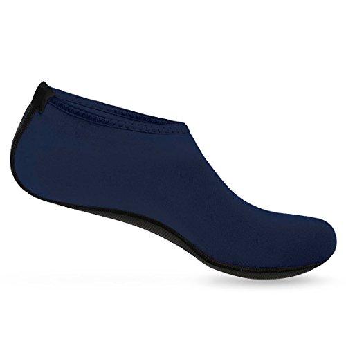 Nlife Barefoot Waterschoenen Aqua Sokken Voor Strand Surf Zwembad Swim Yoga Aerobics (mannen & Vrouwen, M-xxxxl) Marine Blauw