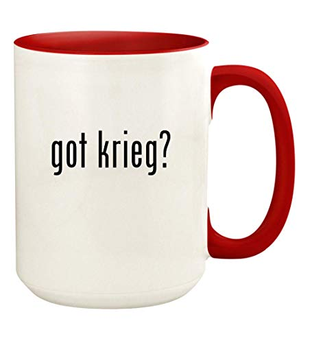 got krieg? - 15oz Ceramic Colored Handle and Inside Coffee Mug Cup, ()
