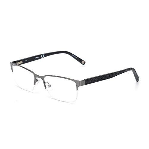 Eileen&Elisa Ben 2017 New Glasses Frame TR90 with Clear Lens Optical Eyeglasses Frame (Silver, - Frames Silver Eyeglass Ben