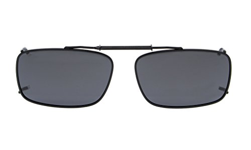 Eyekepper Metal Frame Rim Polarized Lens Clip On Sunglasses 2 1/8