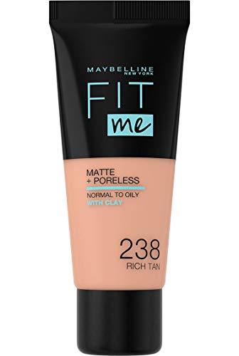 Maybelline New York Fit Me Matte & Poreless Foundation 238 Rich Tan 30ml