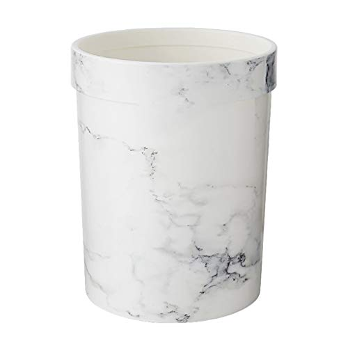 Modern Minimalist Plastic Trash Can 7L / 8L / 12L / 15.5L is Ideal for Apartments, Hotels Or Hostels (Color : White, Size : 7L -26.2cm) ()