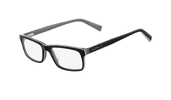 475ffc3c076 Nautica Eyeglasses N8085 300 Black 54 17 140 at Amazon Men s Clothing store