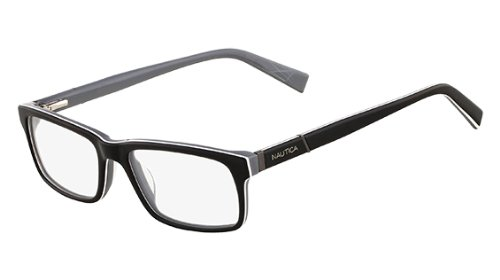 a57d8b42f2d Nautica Eyeglasses N8085 300 Black 54 17 140 at Amazon Men s ...