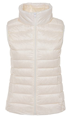 Santimon Collar White Vest Lightweight Stand Available Down Down Womens Warm 10 Coat Jacket Packable Colours 8q684rw