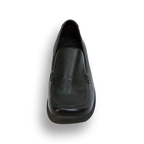 24 Hour Comfort Meadow Women Wide Width Simple and Elegant Cushioned Light Weight Step in Loafers Black