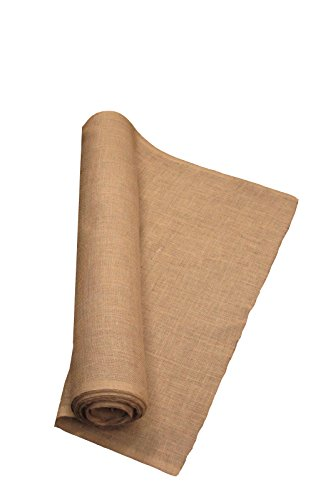 LA Linen 40-Inch Wide  Natural Burlap , 20 Yard Roll Upholstery Square Weave