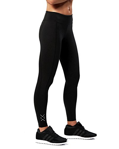 2XU Women's Fitness Compression Tights (Black/Silver, Large Tall) by 2XU (Image #4)