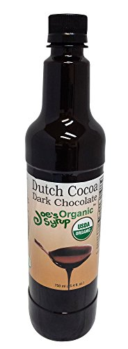 Flavored Syrup, Organic Dutch Cocoa Dark Chocolate Sauce, 750 ml (750 Cocoa)