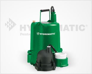 Hydromatic OSP50BRA1 Cast Iron Effluent Pump, 10' Power Cord (Automatic), Bronze Impeller by Hydromatic