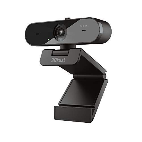 Trust Taxon QHD Webcam 2560×1440 (2K) with 2 Integrated Microphones and Autofocus, 30 FPS, USB