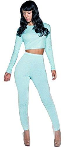 NEW Mesdames bleu ciel 2pièces pour femme pour femme de Club Wear Vêtements Casual pour Femme Soirée Taille M 10–12