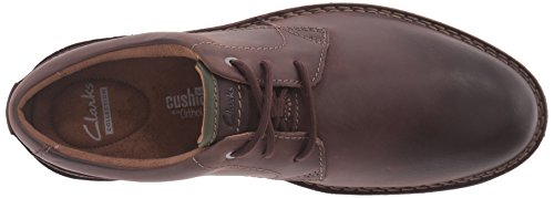 Clarks Mens Edgewick Pianura Oxford Marrone Scuro