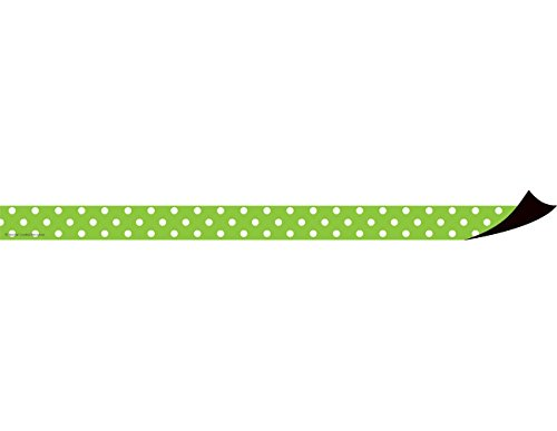 Teacher Created Resources Lime Polka Dots Magnetic Strips (77141)
