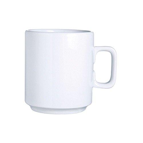 (Arcoroc R0835 Candour White Porcelain 11 Oz. Mug - 24 / CS)