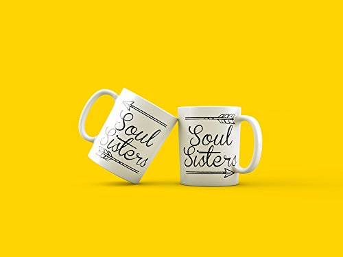 Hilarious Costume Ideas College (TWO SOUL SISTERS Mugs, Best Friend Mugs, Happy Birhday Best Friend, Soul Sister Coffee Mugs, Gifts for Sisters, Bridesmaids Gifts, Gift for Her)