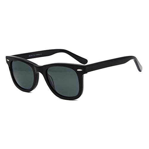 Acetate Great Classic Eyewear Sunglasses Vision Noir Glass lens faxdpq