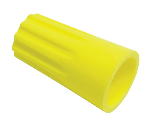 Rheem Yellow Twist-On Wire Connector - 18-12 AWG (Pack of 50) #PD455630