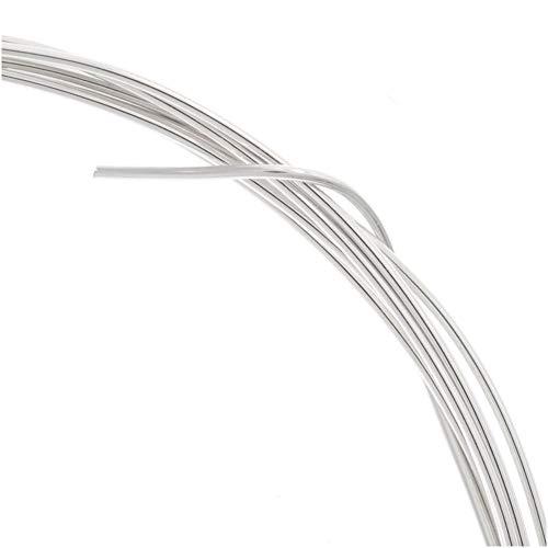 ugems sterling silver 25 gauge wire hard temper round  qty