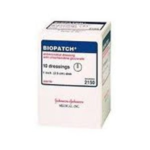 Biopatch Antimicrobial Dressing 1'' Disk, 4mm Part No. ET 4150 Qty Per Box by J&J Healthcare Syst Inc.