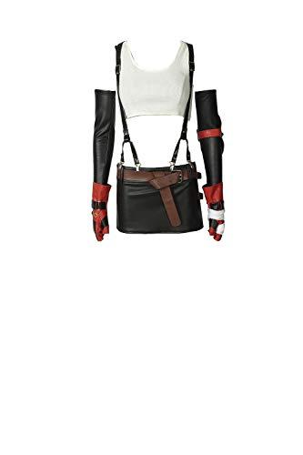 Womens Final Fantasy Cosplay Costume Tifa Lockhart Full Set Suit M White