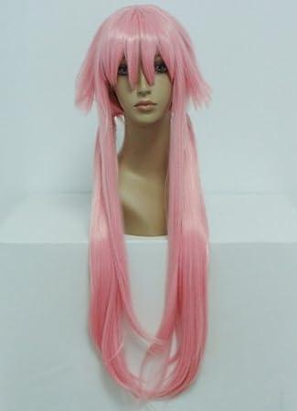 COSPLAZA Cosplay disfraz Wigs Peluca 100 cm larga duro Pink Rosa ...