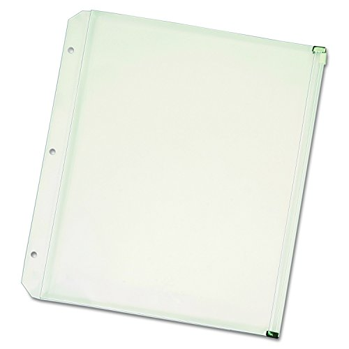 New-Zippered Binder Pockets 8-1/2 x 11 Clear 3/Pack Case Pac
