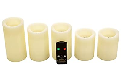 Northern International Real Wax Flameless Candle Set w/Dual Timer Feature and Remote Control - Duracell Batteries Included