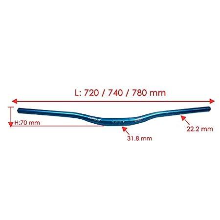 Fahrrad MTB Lenker Klemmung 25.4mm Fahrradlenker Riser Bar