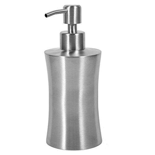 Yosoo Stainless Steel Shower Pump Lotion Soap Dispenser Liquid Bottle for Kitchen Bathroom Countertop 400ml