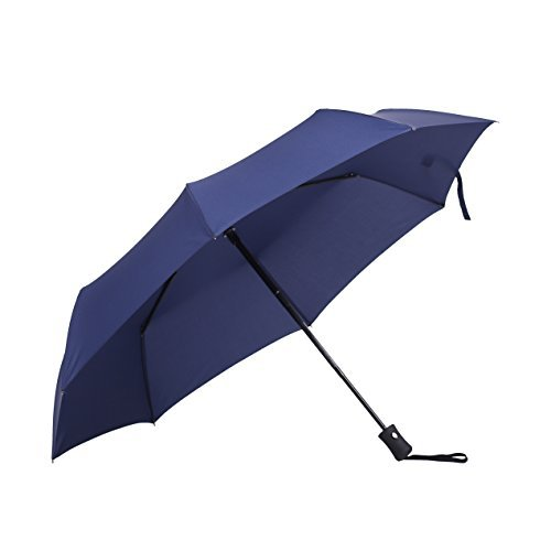 GOLDEN MAPLE Windproof Umbrella - Auto Open / Close - Stylish Black/Blue/Brown/Wine 4 Colors Design for Women / Men (blue)