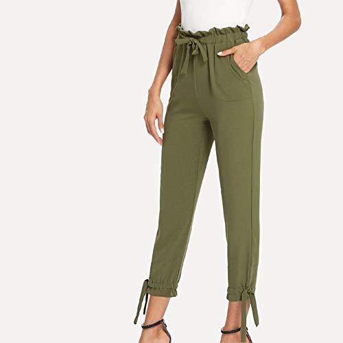 UONQD Womens Ladies Bow Pocket Trousers Long Pants Slim fit Leggings (Medium,Green) by UONQD (Image #2)