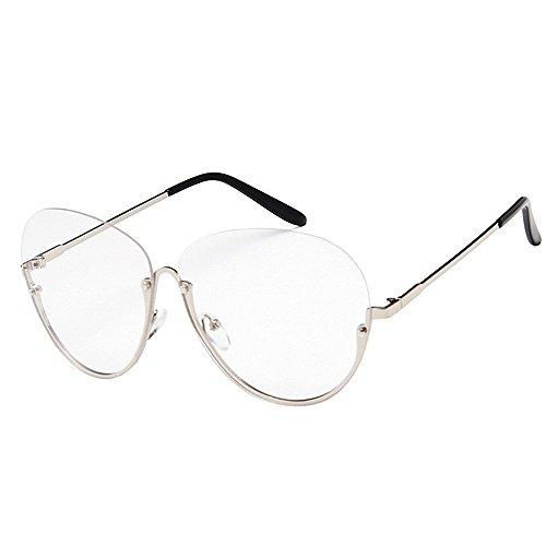 protection lunettes Semi Big soleil conduite lentille Rimless soleil femmes Round pour Argent surdimensionné unisexe polarisées Loisirs soleil hommes Lady de PC de UV Style pour la de les lunettes lunettes Pgf5qRw