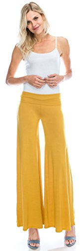 Top Angel Cola Womens Basic Comfy Chic Palazzo Lounge Pant Made in USA for sale