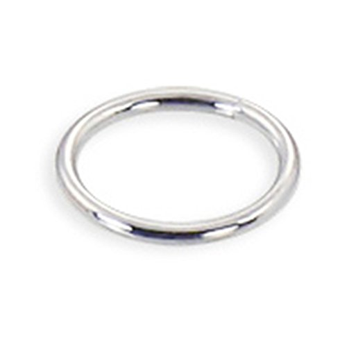 MsPiercing 14K Gold Seamless Ring, Gauge: 18 (1.0Mm), 14K White Gold, 3/8