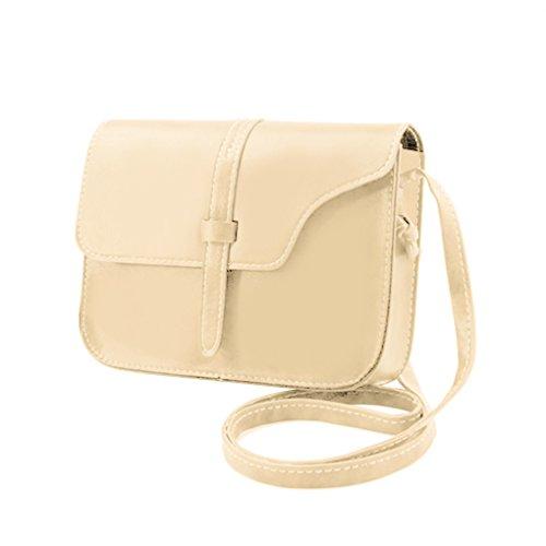 Grande capacité Mini Messenger Sac à bandoulière carré poches Sling Vintage Sac à main épaule téléphone femme bourse Republe Beige