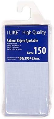 I LIKE Sabana Bajera Ajustable 50% ALGODÓN 50% POLIÉSTER Cama 150 ...