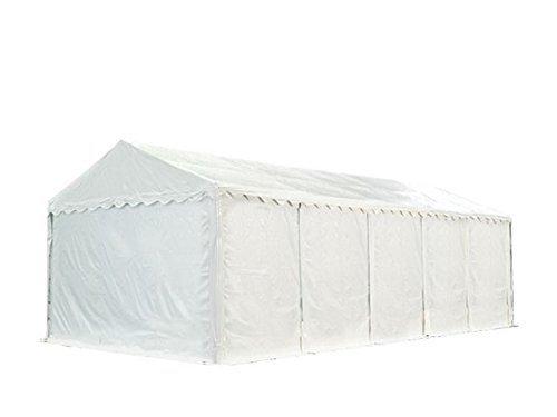 XXL Lagerzelt PROFESSIONAL 3x10m, hochwertige 550g/m² PVC Plane in weiß, vollverzinkte Stahlkonstruktion, Ø Stahlrohre ca. 50 mm, Seitenhöhe ca. 2,6 m