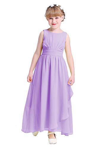 Happy Rose 7-16 Chiffon Girls Junior Bridesmaid Dress Lavender 16