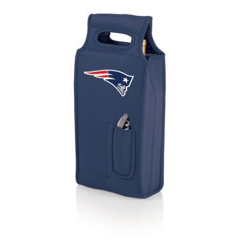 Nfl Wine (NFL New England Patriots Samba 2-Bottle Neoprene Wine Tote Bag, Navy)