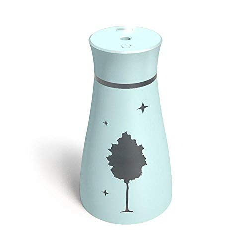 - Womdee Mini Humidifier, Cool Mist Humidifier, USB Car Humidifier, 200ml Ultrasonic Portable Maple Leaf Air Purifier, Elegant Vase Shape, Mute and Auto Shut-Off for Home Office Travel