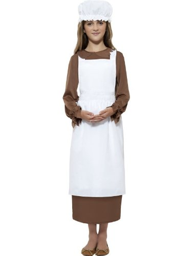 [Kids Colonial Girl Costume Kit] (Colonial Dress For Girls Costumes)