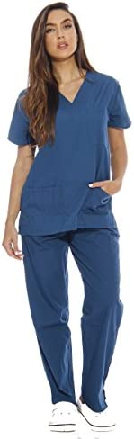 Just Love Women Scrub Sets Six Pocket Medical Scrubs VNeck with Cargo Pant