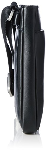 Tommy Hilfiger TH City Mini Flat, Bolsa para Hombre, Negro (Black), 2x20x22 cm (b x h x t)