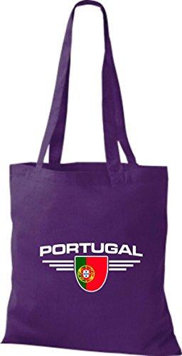 Países Shirtstown Lila Morado De Land Tela Escudo Portugal Bolsa ff1yrAY